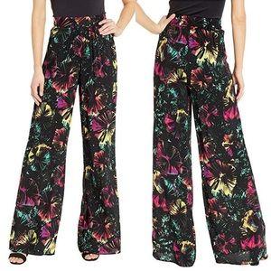 BCBGMAXAZRIA  Floral PALAZZO Pant Size S